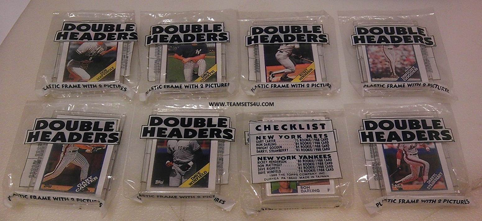 Www Teamsets4u Com 1988 Topps Double Header Yankees